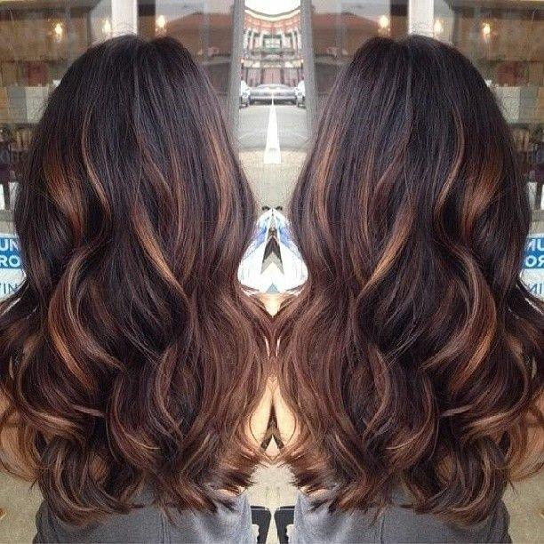 Caramel balayage highlights   Adorable Hair Ideas   Pinterest