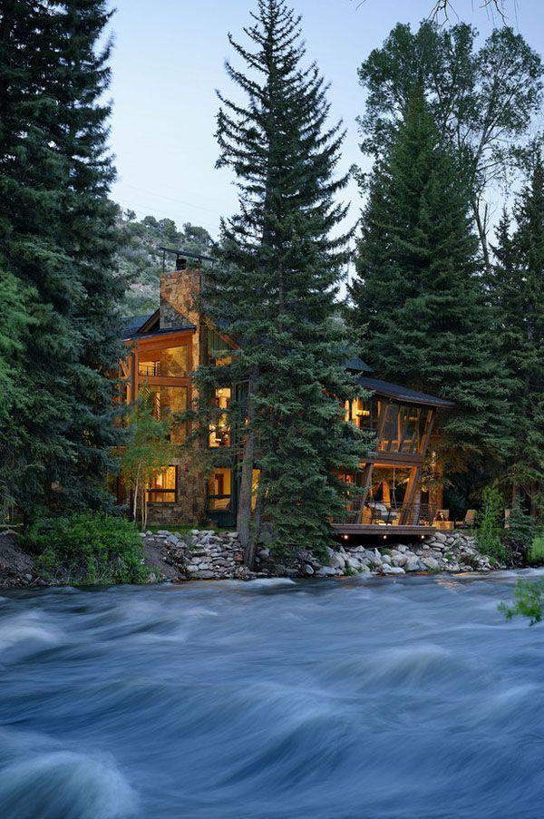 River House Aspen Colorado Rustic Country Decor