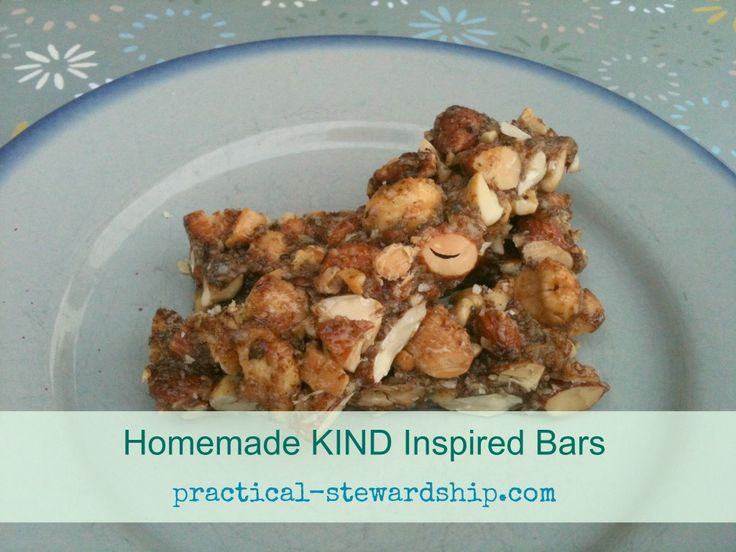 Nutty Homemade KIND Inspired Bars - i'd skip the flax seed or replace