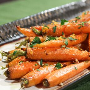Holiday Ginger Glazed Carrots! I love a new way to make vegetables and ...