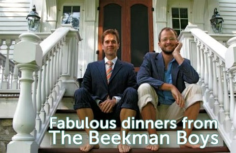 Now you can have meals from the Heirloom Cookbook delivered RIGHT to your front door!  Enter BEEKMANBOYS as your invite code