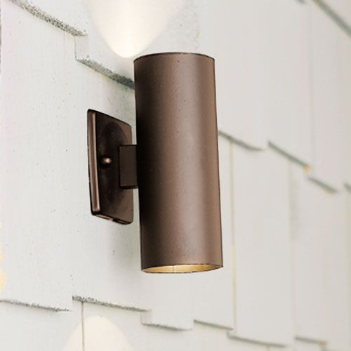 Wall Mounted Accent Lights : Textured Architectural Bronze Up/Down Accent Light Kichler Wall Mount?