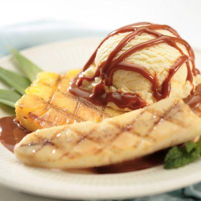 Grilled Fruit with Dulce de Leche Rum Sauce Recipe | Nestle Meals.com