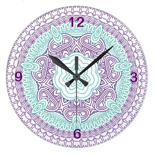 Medieval Gothic Floral Pattern in teal purple and white lovely    Gothic Floral Pattern