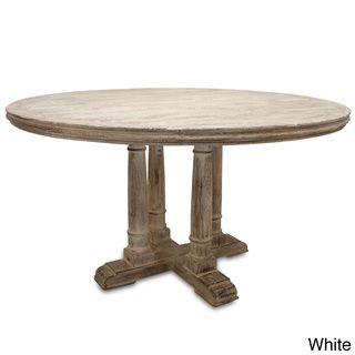 Victoria Reclaimed Wood Round Dining Table Dimension Options 30