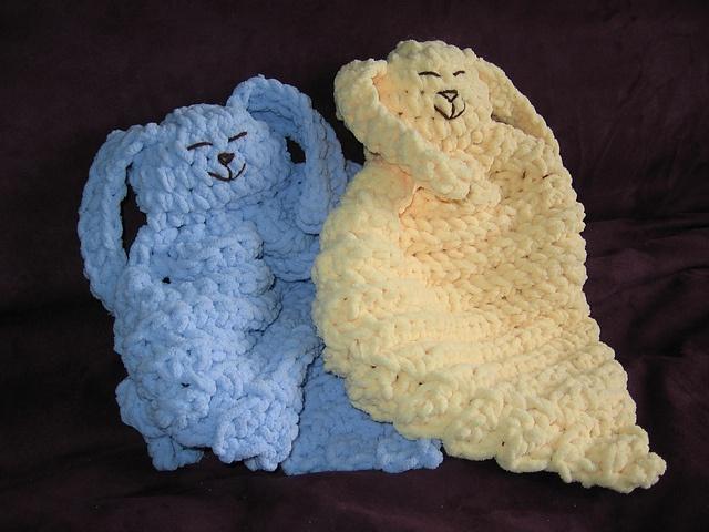 Demi Knits Lion Brand Yarn Bunny Blanket Buddy Knit Dinocrofo