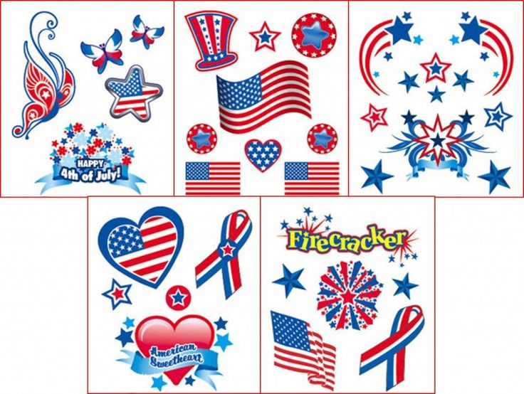 Check out these awesome patriotic temporary tattoos and party ideas! #4thofjulypartyideas