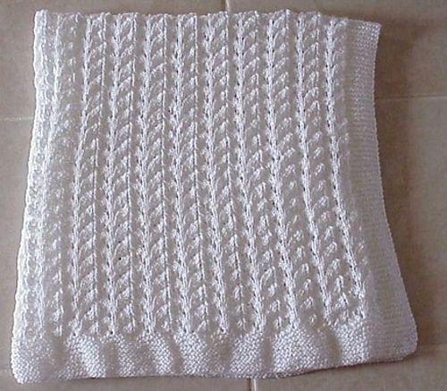 Knitting Pattern Lace Baby Blanket : Lace Knit Baby Blanket pattern by Nancy Hearne