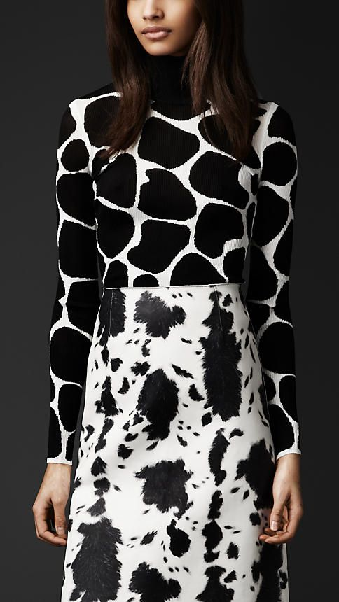 Jersey con estampado animal en seda | Burberry