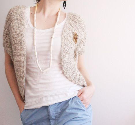 Free Knitted Shrug Patterns : Free knitting pattern. Boleros & shrugs Pinterest