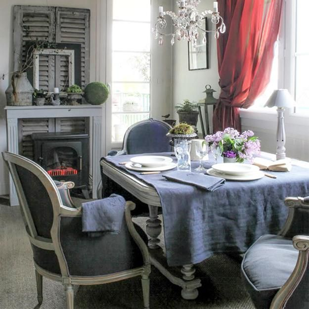 French style dining room dining rooms pinterest for Vintage dining room decorating ideas