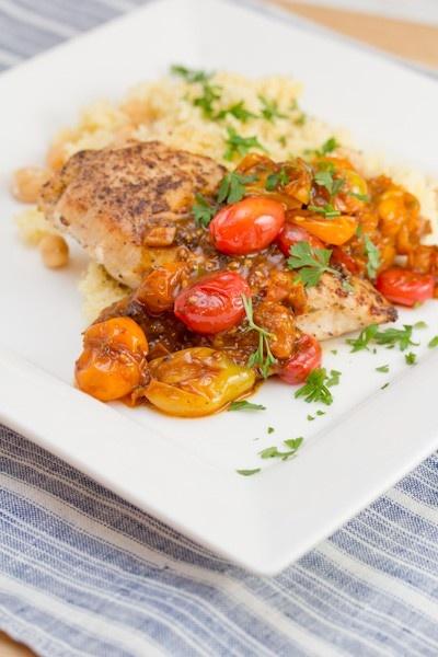 Chicken Breasts w/ Tomato-Herb Pan Sauce #recipe recipes