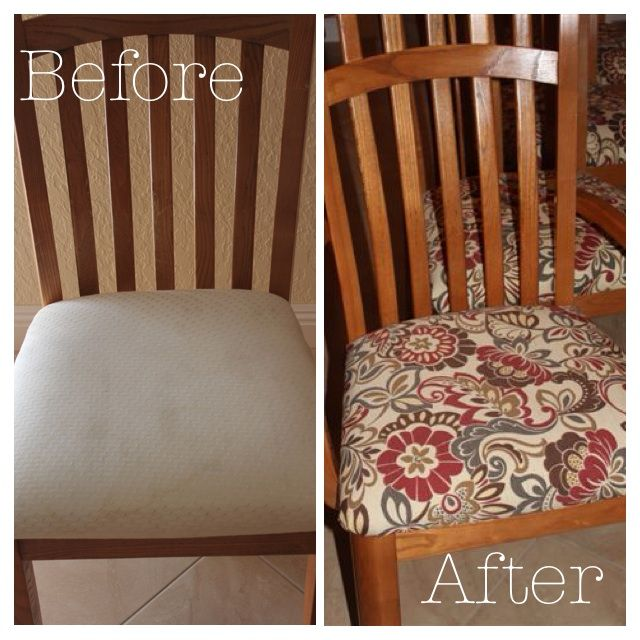 DIY Makeover Chair Cushions
