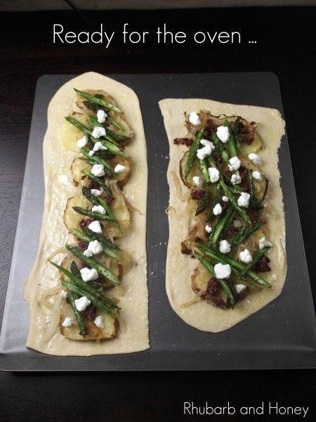 Potato and asparagus flatbread | Food | Pinterest