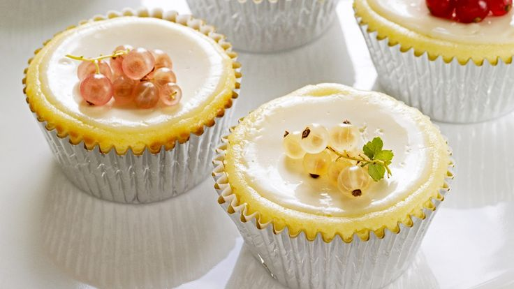 Cheesecake Cupcakes With Sour Cream Topping Recipe — Dishmaps