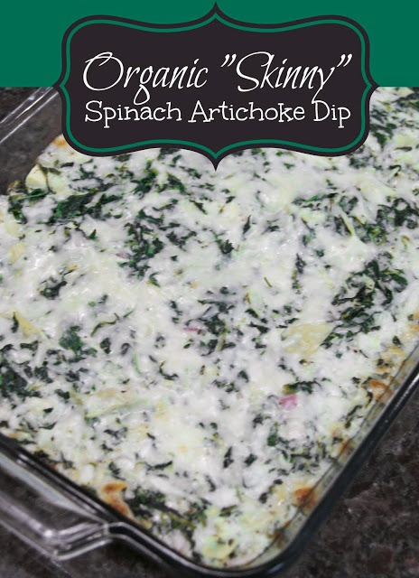 "Organic ""Skinny"" Spinach Artichoke Dip Amazing.... www.thehomepayge..."