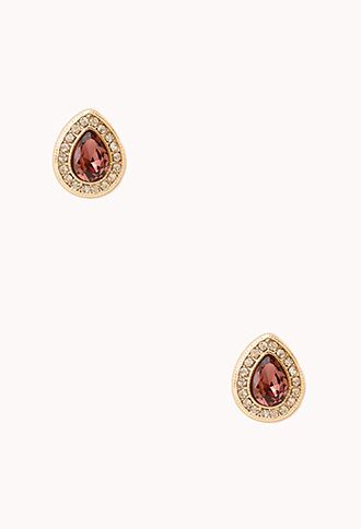 Opulent Teardrop Studs | FOREVER21 - 1000066082