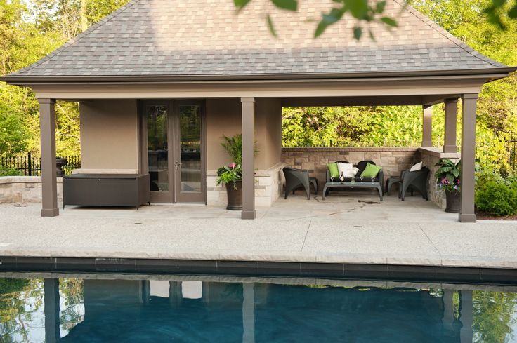 Dig pool shed ideas for Pool house shed plans