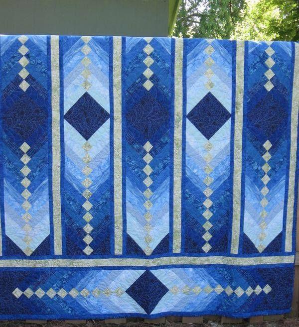 French braid pattern Blue Quilt Pinterest