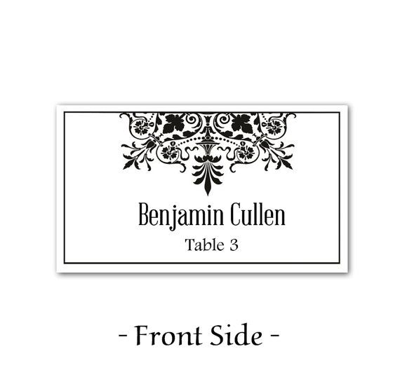 instant download regency wedding place cards microsoft word templat