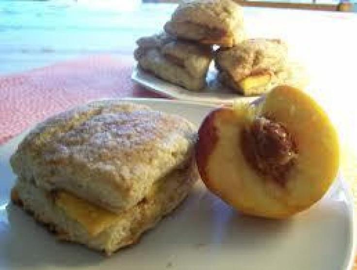 Yum... I'd Pinch That! | Peach cobbler scones