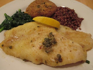 Flounder Piccata with Fresh Spinach | So What Are You Making For Dinn ...