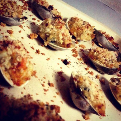 Baked clams stuffed with crab | dumplin's stuff | Pinterest