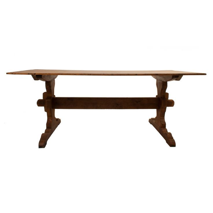 Trestle dining table sweden circa 1850 swedish trestle for Dining table depth