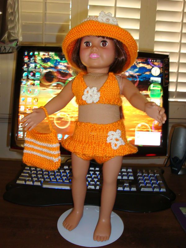 Ladyfingers - AG doll - Two Piece Bathing Suit, etc.