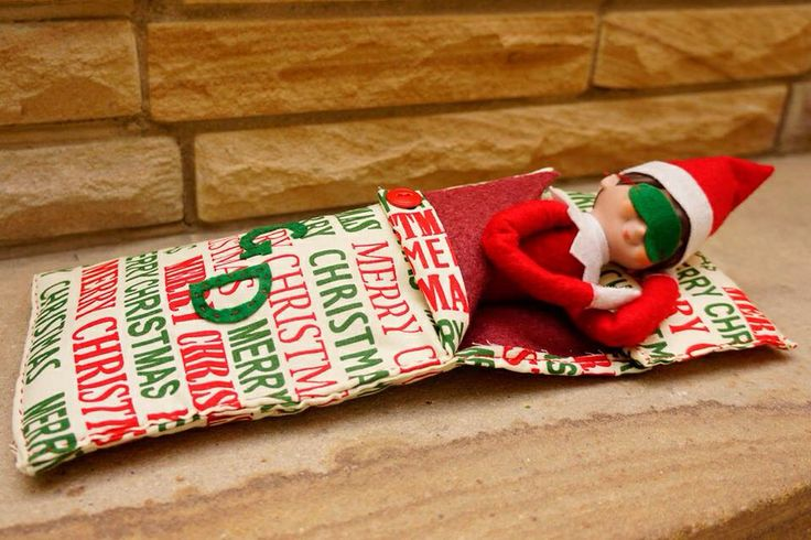 Sleeping elf | Elf on the Shelf | Pinterest