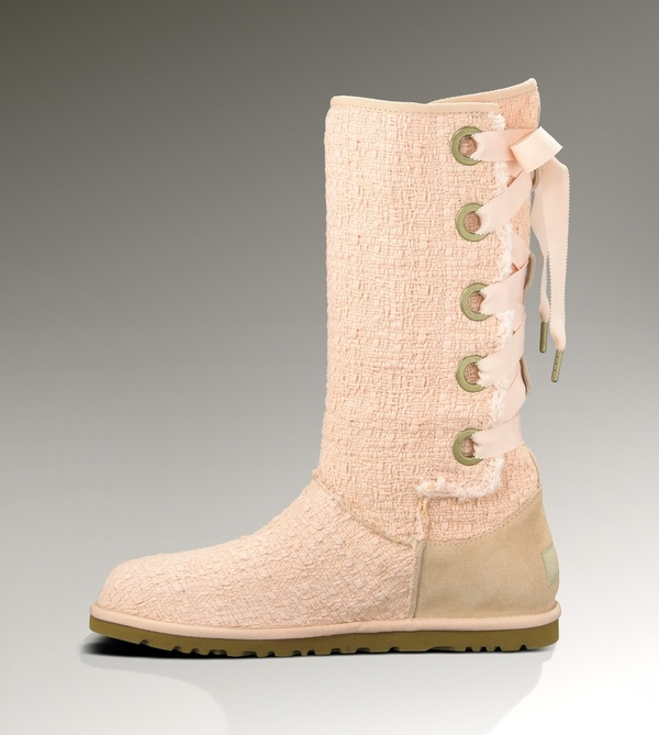 white lace up uggs