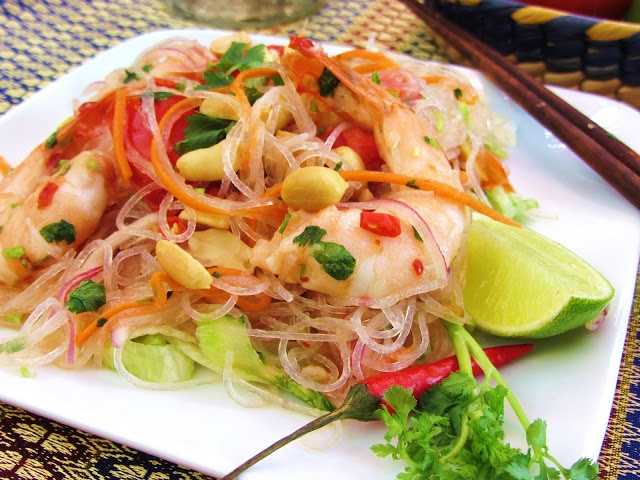 Yum-Woon-Sen Goong /Thai Spicy Glass Noodle Salad with Shrimp - What I ...