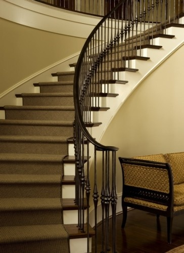 Curved staircase remodel ideas home ideas pinterest - Stairlift for curved staircase ...