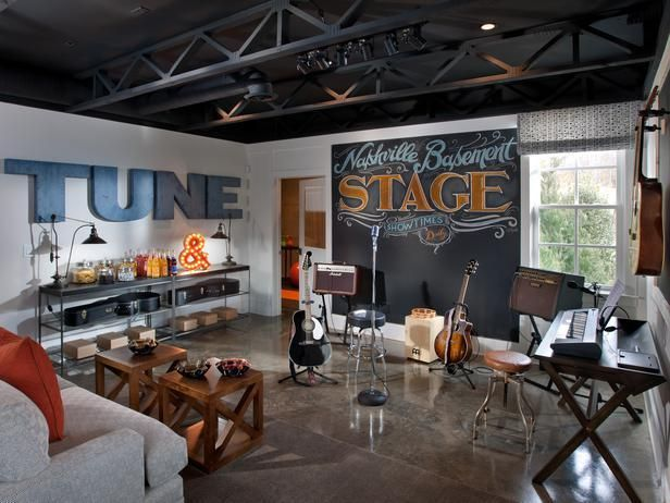 No home in the heart of Music City USA would be complete without a musical stage to jam out with friends!  And guess whose autographed guitars are displayed on the wall -->  http://hg.tv/vb2a