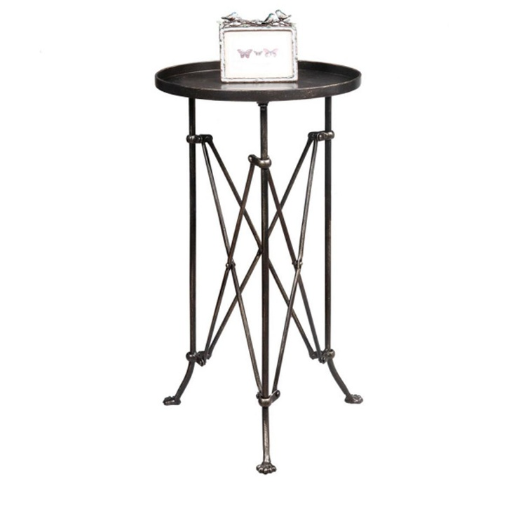 Round Metal Side Table Shades Of Light
