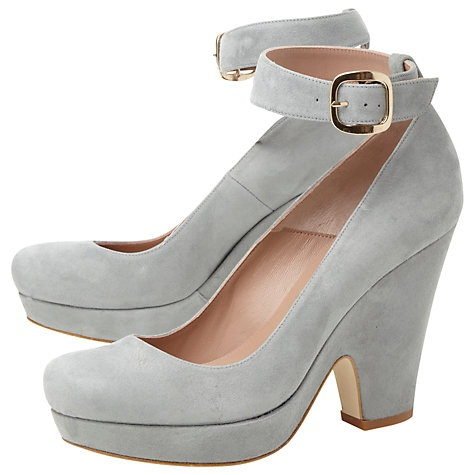 Terre Adler Suede Block Heel Platform Shoes Online at johnlewis.com