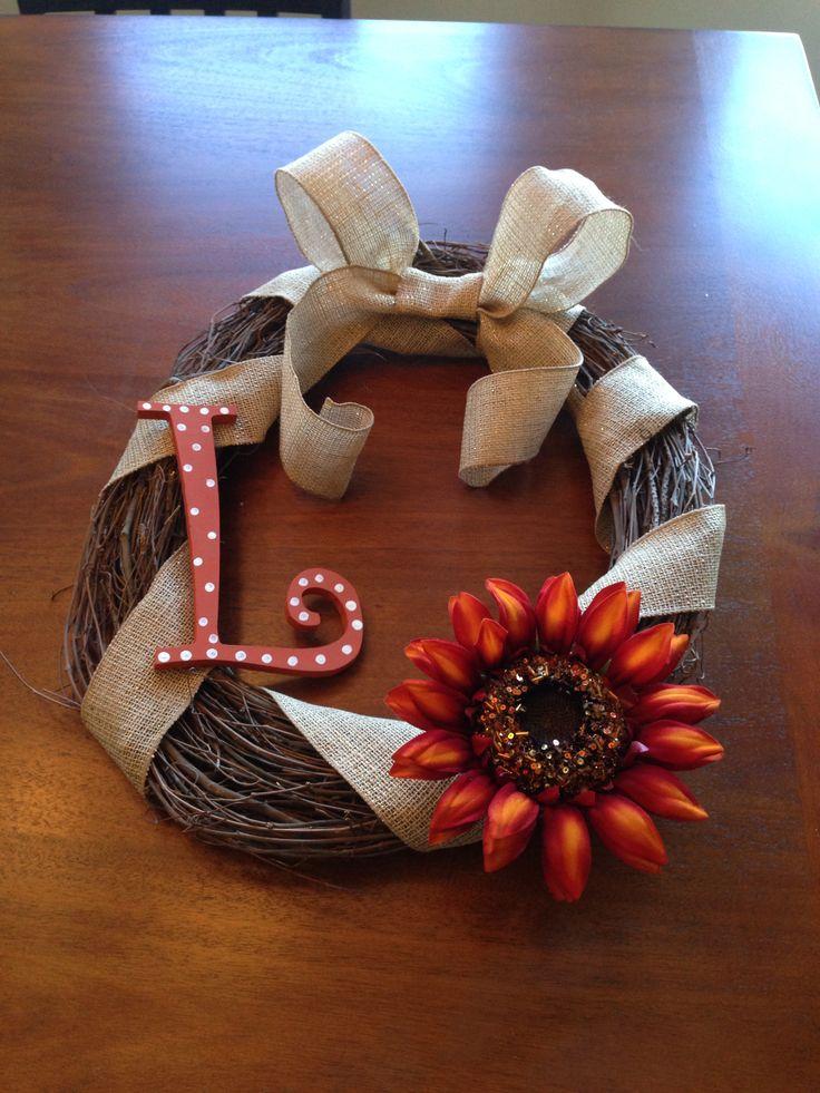 Cheap fall wreath idea wreaths pinterest