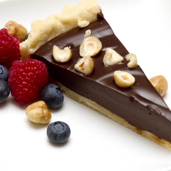 Recipe for Chocolate Hazelnut Tart at Piedmontese.com