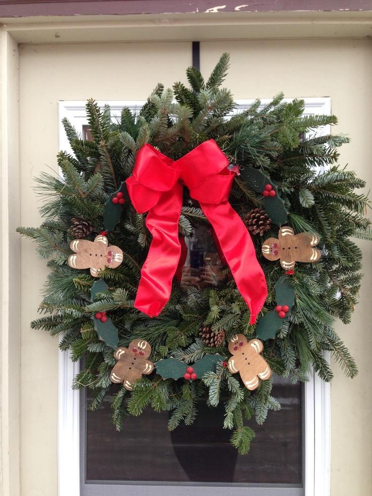Gingerbread man wreath   All things Christmas   Pinterest