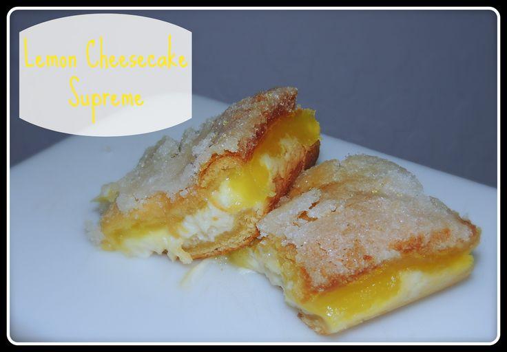 Lemon Cheesecake Supreme Bars on MyRecipeMagic.com.....This is so ...