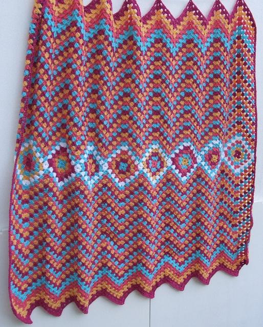 Manta Hueco Zig Zag Crochet blankets Pinterest