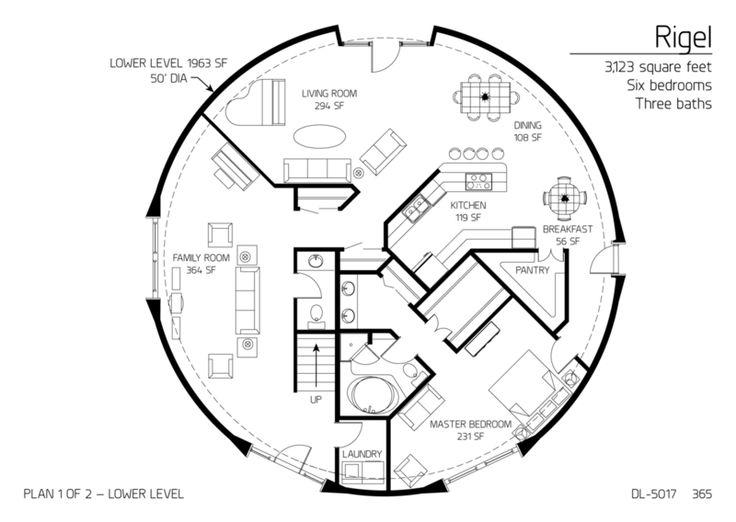 Floor Plan Lower Level Dl5017 Dome Homes Pinterest