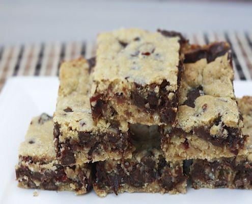 Gooey Chocolate Chip Sandwich Bars | Recipe