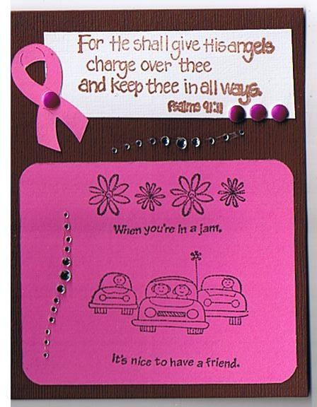 breast cancer encouragement cards