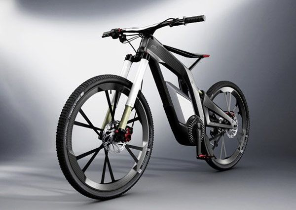 Audi e-bike Wörthersee - looks cool but the saddle area needs further development...ouch