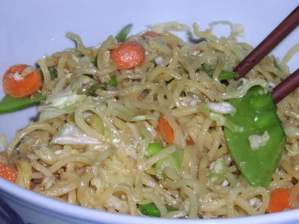 Oriental Cold Noodle Salad (Low Fat/Vegetarian). Photo by TeresaS