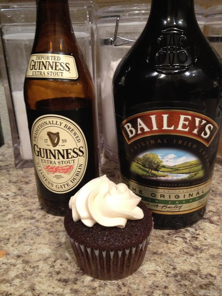 .. Guinness chocolate cupcake filled with Jameson Irish Whiskey ...