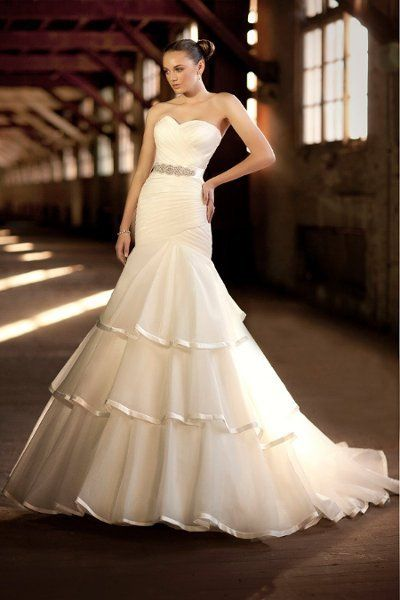 Royal Organza Gown with Lavish Satin Accents
