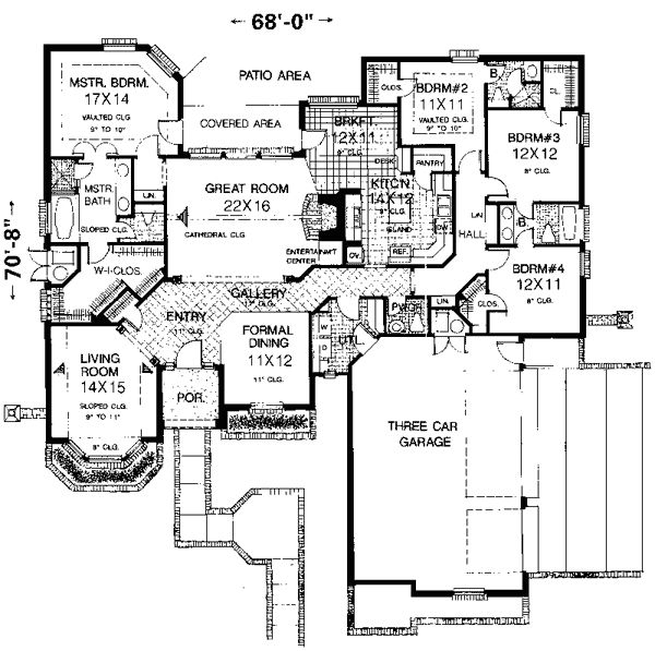 Pin by anita on house plans under 3 000 square feet for Floor plans for 3000 sq ft homes