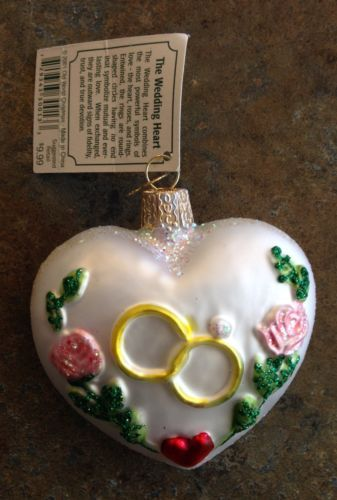 Merck family s old world christmas ornament quot wedding heart quot 30013